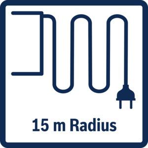 Functies: 15 m Radius