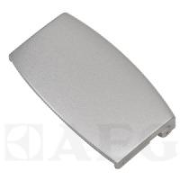 Afbeelding van 1108254135 Deurgreep Breed, 10cm, metallic grijze plastic greep