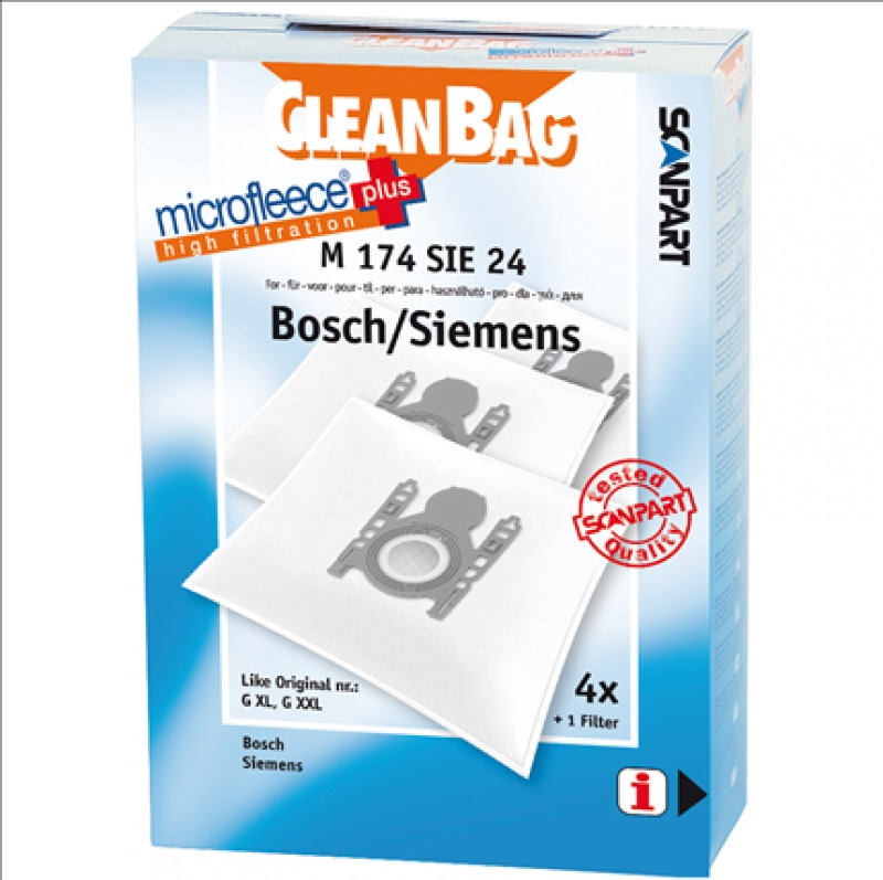 Afbeelding van M174SIE24 stofzuigerzak voor Bosch en Siemens