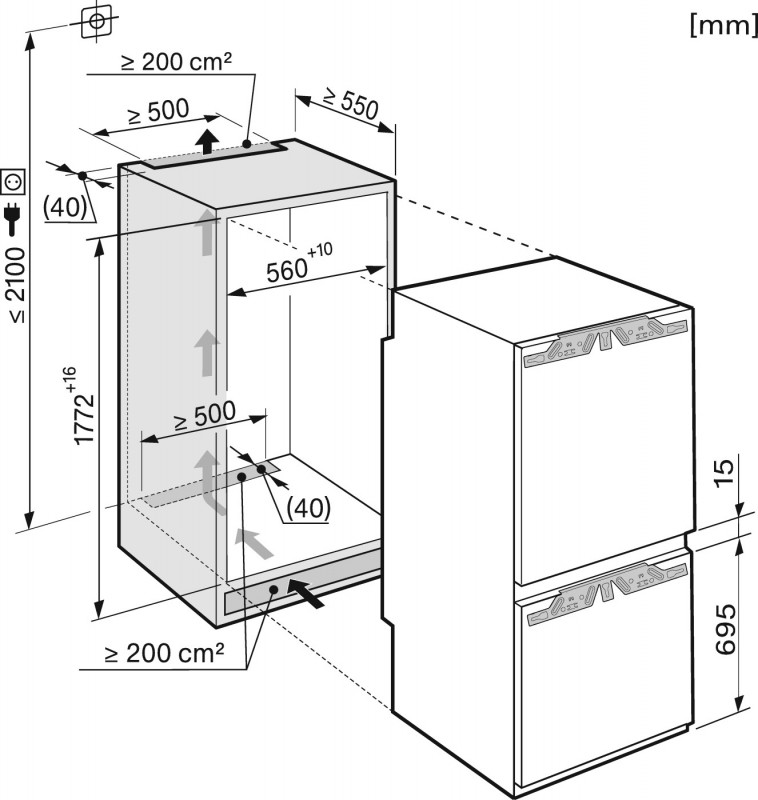 miele kfn 37282id koel vriescombinatie. Black Bedroom Furniture Sets. Home Design Ideas